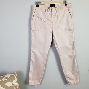 J. Crew Skinny Stretch Cargo pant in light pink